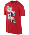 Nike Mens RF Hard Court Graphic Tee- University Red