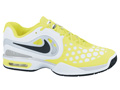 Nike Mens Air Max CourtBallistec 4.3 Tennis Shoes- White/Black/Volt
