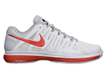 Nike Mens Zoom Vapor 9 Tour Tennis Shoes- White/Team Orange