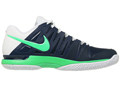 Nike Mens Zoom Vapor 9 Tour Tennis Shoes - Midnight Navy / Poison Green / White