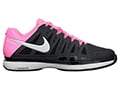 Nike Mens Zoom Vapor 9 Tour Tennis Shoes- Anthracite/Polarised Pink/White