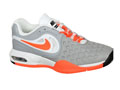 Nike Kids Air Max CourtBallistec 4.3 Tennis Shoes - Stadium Grey / Orange / White