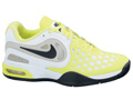Nike Kids Air Max CourtBallistec 4.3 Tennis Shoes- White/Black/Volt