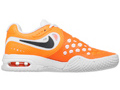 Nike Kids Air Max CourtBallistec 4.3 Tennis Shoes - Total Orange / Squadron Blue / White