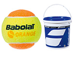Babolat Junior Orange Tennis Balls- Bucket of 3 Dozen