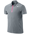 Nike Mens Premier RF Polo- Stadium Grey/White