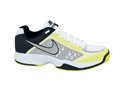 Nike Kids Air Cage Court Tennis Shoes - White / Stadium Grey / Volt / Black