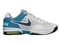 Nike Mens Air Max Cage Tennis Shoes - Stadium Grey  / Squadron Blue / Neo Turquoise / White