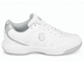 K-Swiss Womens Ultrascendor II Indoor Carpet Tennis Shoes- White/Silver