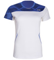 Li-Ning Womens Blast 21 Tee- White/Blue