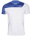 Li-Ning Mens Bast 21 Tee- White/Blue