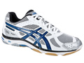 Asics GEL-Beyond Indoor Squash/Badminton Shoes- White/Blue/Silver