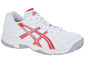 Asics Kids Gel Estoril Junior Tennis Shoes- White/Diva Pink/Silver
