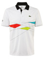 Lacoste Mens Sports Team Polo- White/Green/Red/Cyan