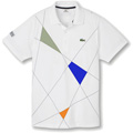 Lacoste Mens Sports Team Polo- White/Grey/Blue/Orange