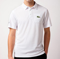 Lacoste Mens Andy Roddick Polo - White/Royale-Blue