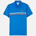 Lacoste Mens Andy Roddick Striped Polo - Encre/Noir-Epice