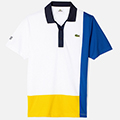 Lacoste Mens Multi Colour Polo - White/Blue/Yellow