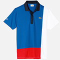 Lacoste Mens Multi Colour Polo - Blue/White/Red