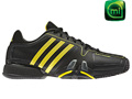 Adidas Mens adipower Barricade Tennis Shoes - Black / Vivid Yellow