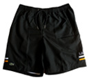 Lacoste Sport Mens Shorts- Black/White/Epices-Yellow