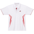 Yonex Mens Graphic Polo Shirt- White/Red (M1260)