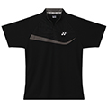 Yonex Mens Zip Polo Shirt- Black/Grey (M1271)