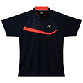Yonex Mens Zip Polo Shirt- Navy Blue/Shine Orange (M1275)