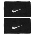 Nike Swoosh Double-Wide Wristband- Black/White