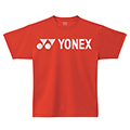 Yonex Mens Plain Logo T-Shirt- Red (P0020E)