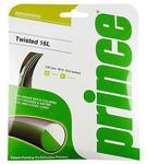 Prince Twisted 16L (1.27mm) Tennis Strings- Set (Black/Yellow)