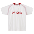 Yonex Mens Logo T-Shirt- White/Red (U5200)