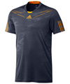 Adidas Mens adiPower Barricade Crew Tee- Urban Sky/Still Gold