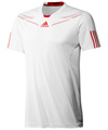 Adidas Mens adiPower Barricade Crew Tee- White/Core Energy