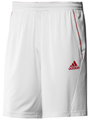Adidas Mens adiPower Barricade Bermuda - White/Core Energy