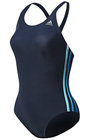 Adidas Womens Authentic One-piece Swimsuit with Infinitex- Black/Blue