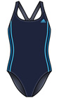 Adidas Girls Authentic One-piece Swimsuit with Infinitex- Navy/Blue