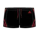 Adidas Mens Inspiration Swimming Boxer- Black/Red