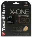 Tecnifibre X-One Biphase 1.30mm Tennis String 1 Set Red