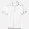 Lacoste Mens Casual Sport Plain Polo - White/Black