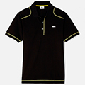 Lacoste Mens Casual Sport Plain Polo - Black/Primula