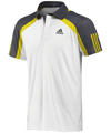Adidas Mens adiPower Barricade Polo - White / Vivid Yellow