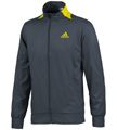 Adidas Mens adiPower Barricade Warm Up Top  - Dark Onix / Vivid Yellow