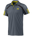 Adidas Mens adiPower Barricade Polo - Dark Onix / Vivid Yellow