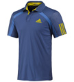 Adidas Mens adiPower Barricade Polo - Dark Blue / Vivid Yellow