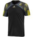 Adidas Mens Semi Fit Crew Tee - Black / Dark Onix