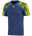 Adidas Mens Semi Fit Crew Tee - Dark Blue / Prime Blue