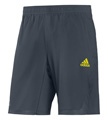 Adidas Mens adiPower Barricade Shorts - Dark Onix / Vivid Yellow