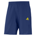 Adidas Mens adiPower Barricade Shorts - Dark Blue / Vivid Yellow