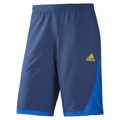 Adidas Mens adiPower Barricade Bermuda Shorts - Dark Blue / Vivid Yellow